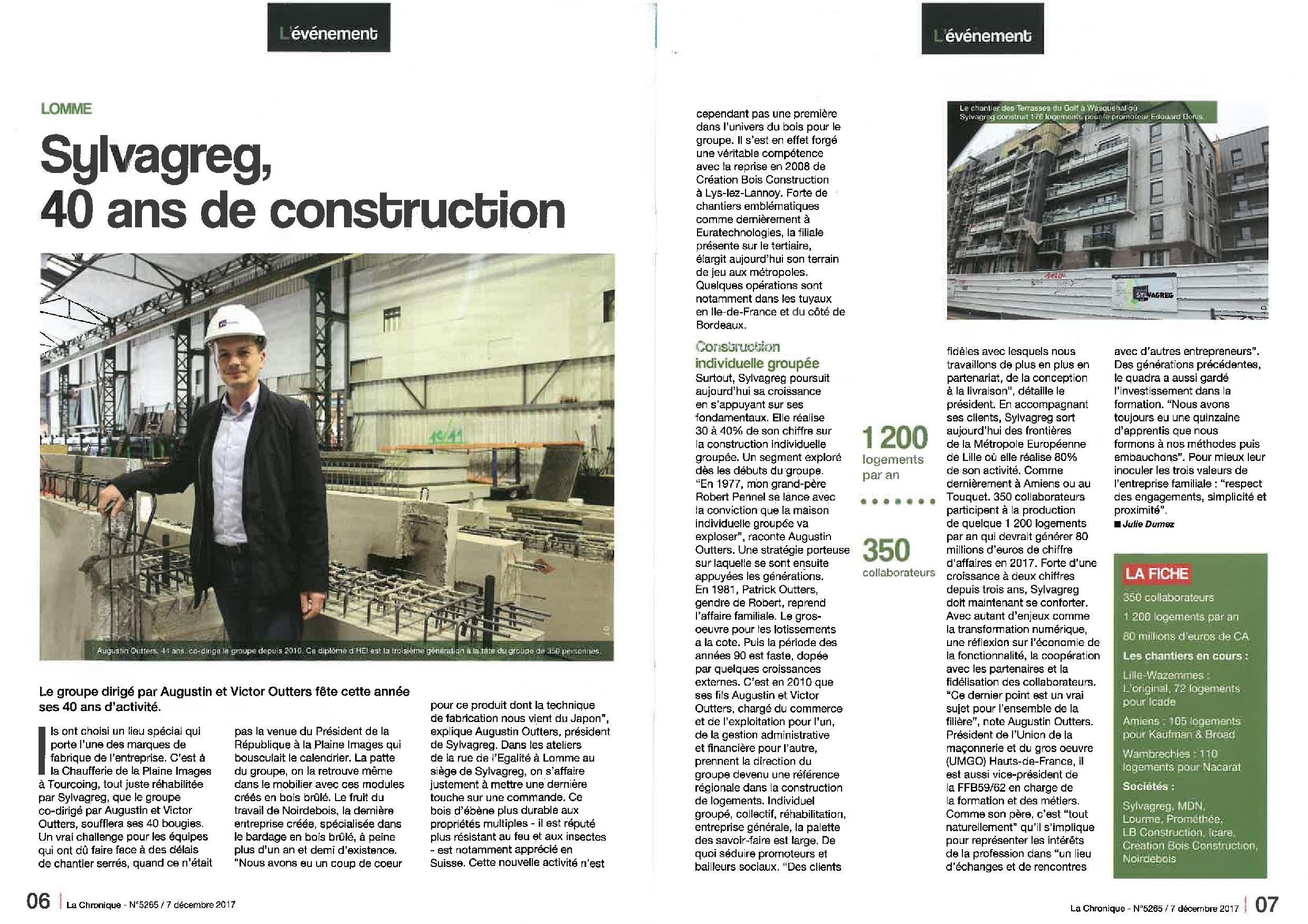Entreprise Generale De Batiment Tourcoing presse – sylvagreg, 40 ans de construction – sylvagreg
